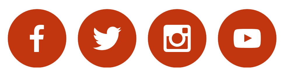 Contact Us on Social Media Buttons
