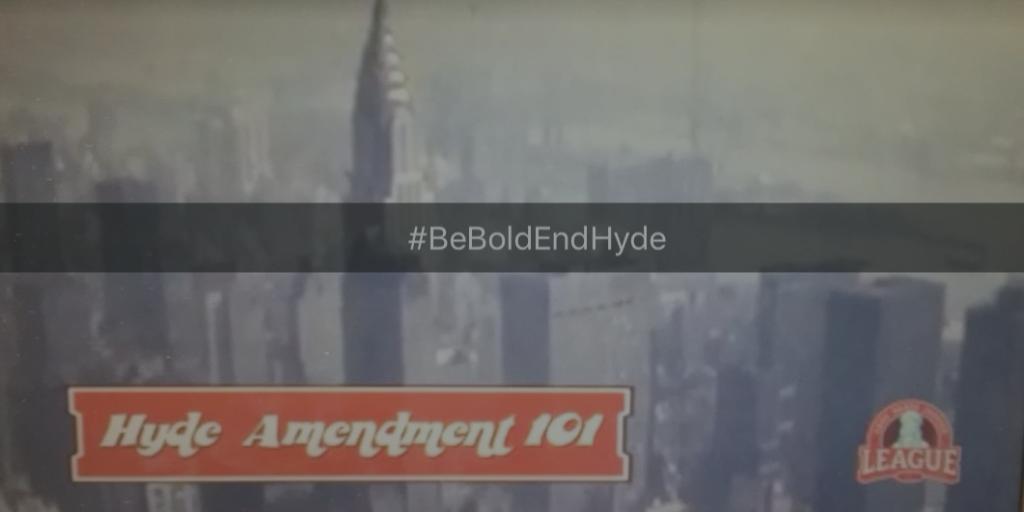 #BeBoldEndHyde